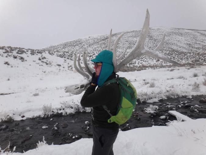 Wells Jones with Elk Rack