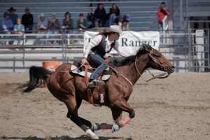 Kaylee Burnett at a rodeo last fall in Riverton. Kaylee brought home the buckle for goat tying and is placed second for women's all-around in the region.