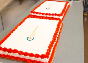 CWC's new logo decorated on cake!