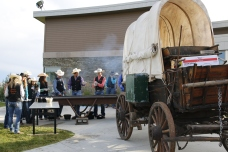 Last years chuck wagon feed outside of the Inter Tribal Center.